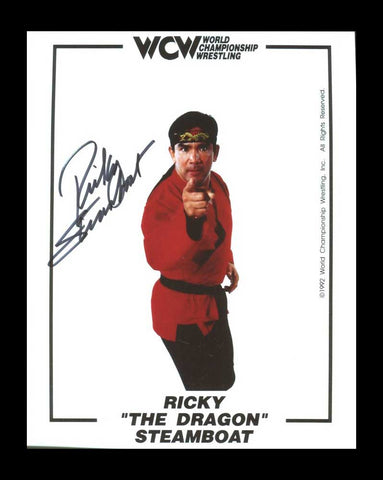 Ricky Steamboat Pose 6 Signed Photo COA