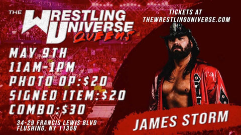 In-Store Meet & Greet with James Storm Sun May 9th from 11AM-1PM TIX NOT MAILED (CHOOSE COMBO $30/AUTO $20/PHOTO OP $20)