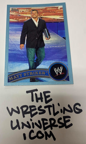 "Matt Striker WWE 2011 Topps ""Blue Parallel"" #'ed 1229/2011"