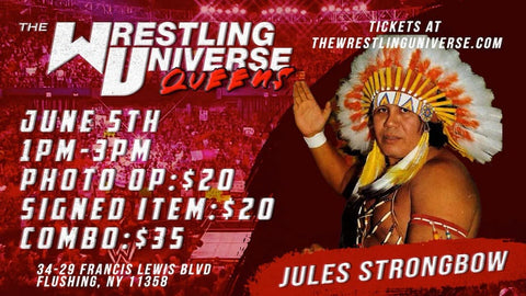 In-Store Meet & Greet with Chief Jules Strongbow Sat June 5th from 1-3PM TIX NOT MAILED (CHOOSE COMBO $35/SIGNED ITEM $20/PHOTO OP $20)