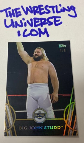 Big John Studd 2018 Topps Hall of Fame #1/5 (Only 5 Made)