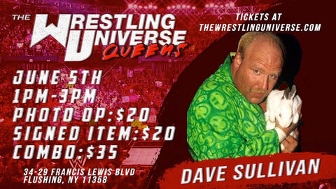 In-Store Meet & Greet with Dave Sullivan Sat June 5th from 1-3PM TIX NOT MAILED (CHOOSE COMBO $35/SIGNED ITEM $20/PHOTO OP $20)