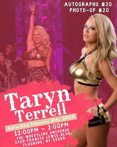 Meet Taryn Terrell Sat Feb 8th from 12-2PM Choose Auto/Photo-Op (Tix not mailed)