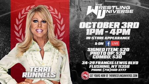 In-Store Meet & Greet with Terri Runnels Sat Oct 3rd from 1-4PM TIX NOT MAILED (CHOOSE COMBO $30/SIGNED ITEM $20/PHOTO OP $20)