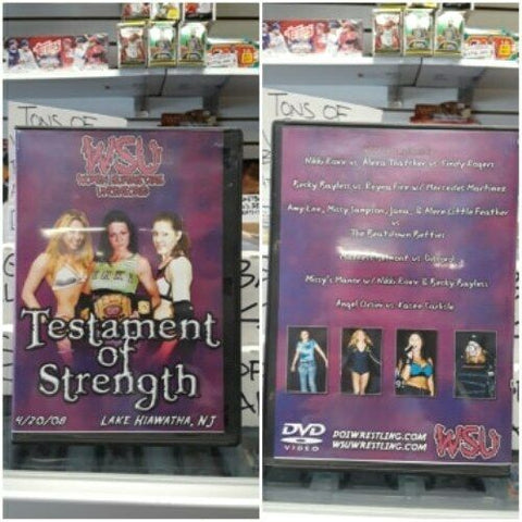 WSU Women Superstars Uncensored Testament Of Strength DVD