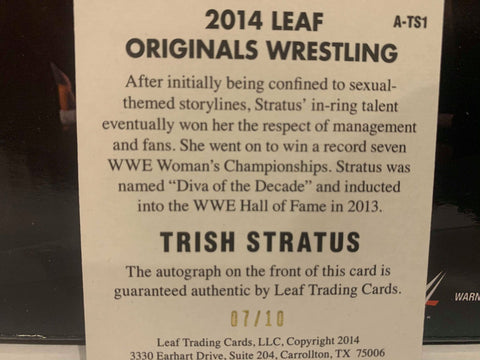 Trish Stratus WWE 2016 Divas Kiss Card #'ed 85/99