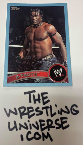 "R-Truth WWE 2011 Topps ""Blue Parallel"" #'ed 106/2011"
