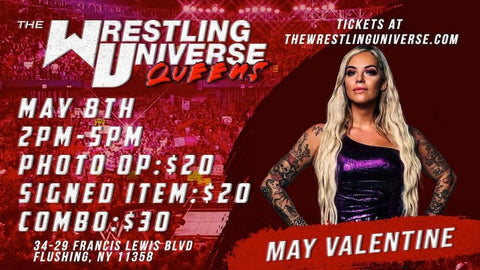 In-Store Meet & Greet with May Valentine Sat May 8th from 2-5PM TIX NOT MAILED (CHOOSE COMBO $30/SIGNED ITEM $20/PHOTO OP $20)