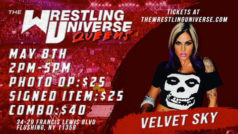 In-Store Meet & Greet with Velvet Sky Sat May 8th from 2-5PM TIX NOT MAILED (CHOOSE COMBO $40/AUTO $25/PHOTO OP $25)