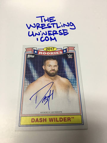 Dash Wilder Top Ten Rookies Auto 2018 Topps WWE Heritage #/50