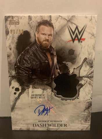 Dash Wilder 2018 Topps WWE Undisputed Signed Relic #80/99