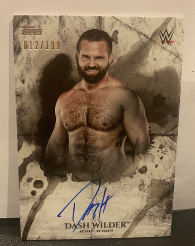 Dash Wilder 2018 Topps WWE Undisputed Signed #12/199