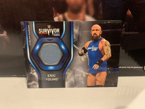 Eric Young 2019 Topps WWE Survivor Series Mat Relic Card