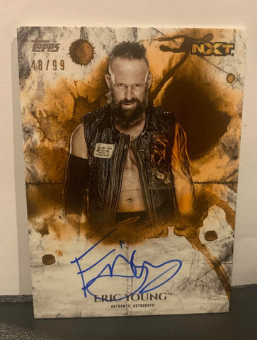 Eric Young 2018 Topps WWE Undisputed Signed #48/99