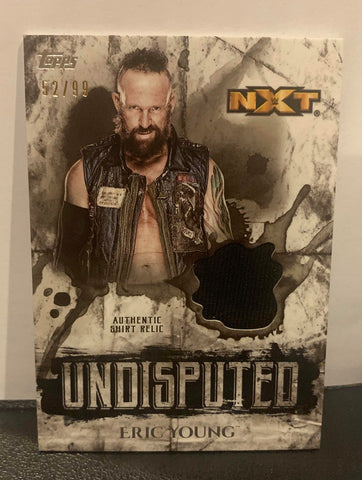 Eric Young 2018 Topps WWE Undisputed Relic #52/99