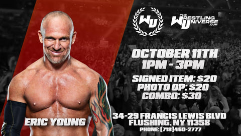 In-Store Meet & Greet with Eric Young Sun Oct 11th from 1-3PM TIX NOT MAILED (CHOOSE COMBO $30/SIGNED ITEM $20/PHOTO OP $20)
