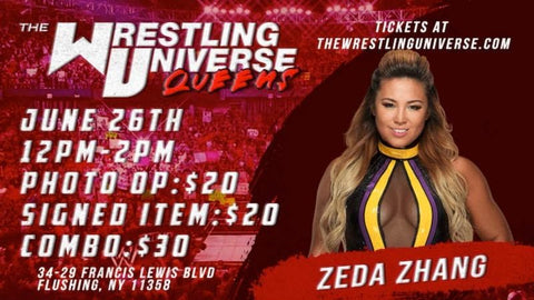 In-Store Meet & Greet with Zeda Zhang Sat June 26th from 12-2PM TIX NOT MAILED (CHOOSE COMBO $30/SIGNED ITEM $20/PHOTO OP $20)