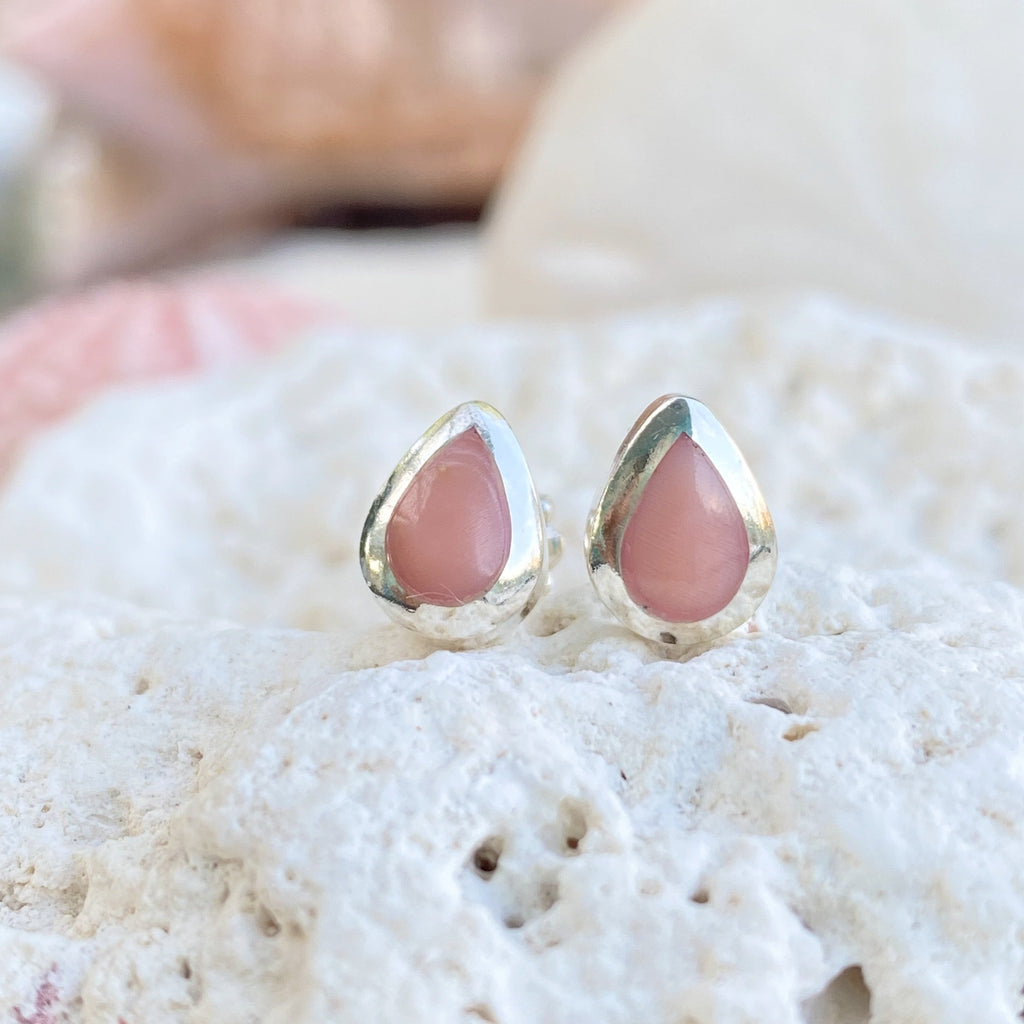 Pink Conch Shell Studs