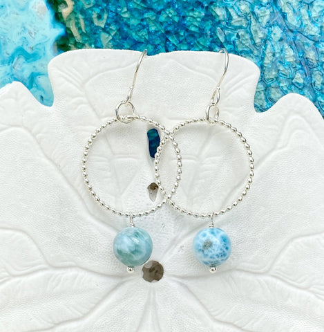 Abril Larimar Earrings