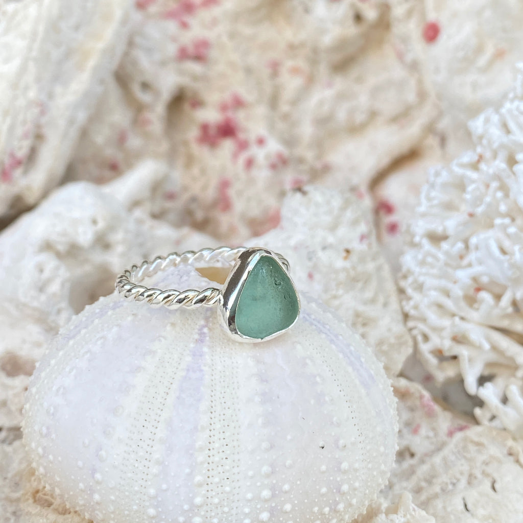 Sea Foam Sea Glass Stacking Ring