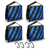 Julius Studio [4 Packs] of Heavy-Duty Blue Striped Sandbags for Light/Boom Arm Stand Tripod, Photo Video Studio, JSAG466