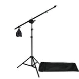 Digital Photography Video 2400W 3 Softbox Lighting & Boom Hair Light Kit
