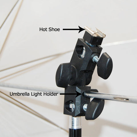 Flash Shoe Holder Light Stand Mount