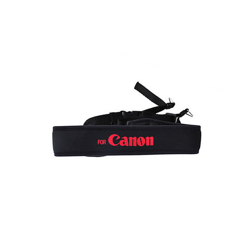 Neoprene Neck Strap for Canon Camera w/ Red Letters