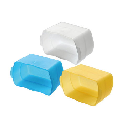 Flash Bounce Diffuser in White, Yellow and Blue