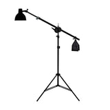 Photo Studio Single Boom Reflector Lighting Kit w/ Sandbag
