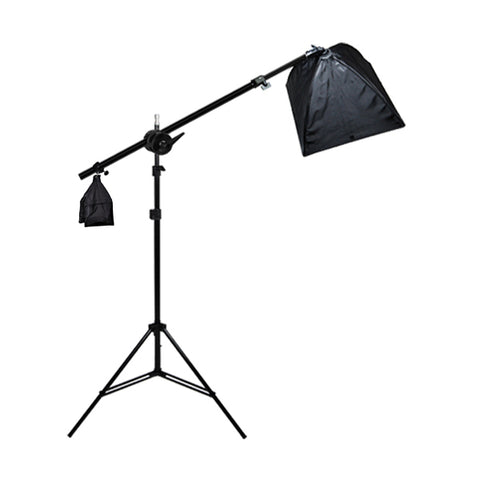 Photo Studio Single Boom Softbox Lighting Kit w/ Sandbag, 400W Output