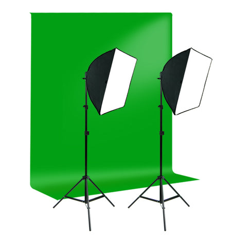 Photography Studio Green Screen Video Photo Quick Softbox Lighting Light Kit, 700W Output