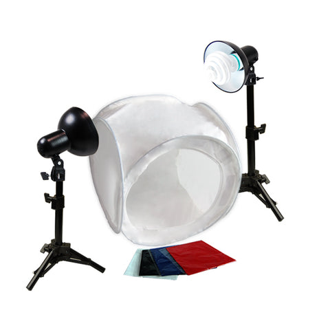Premium Photo Studio Reflector Tent Continuous Lighting Kits w/ Tent