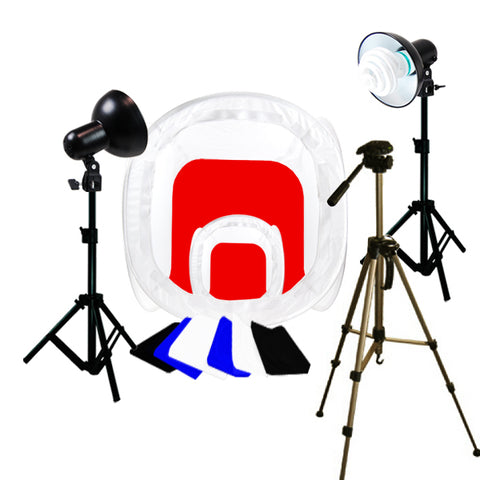 Photo Studio Table Top Lighting 2 Photo Tent Kit