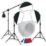 "Large Item Table Top Photography, 900W Softbox Continuous Lighting Kit w/ Boom, 40"", 48"", 60"""