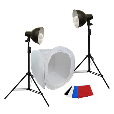 Photo Studio Table Top Lighting Kit w/ Carrying Case, 700W