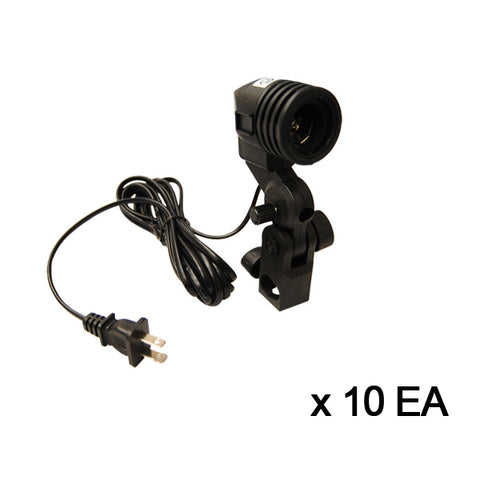 10 x Julius Studio High Quality AC Swivel Adapter, Light Socket
