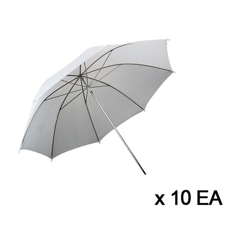 "10 x 33"" White Photo Studio Umbrella"