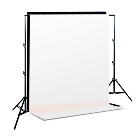 Black & White Backdrops Photo Muslin Background Support System
