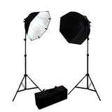Softbox Lighting Light Kit w/ 105W Bulb