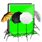 Professional Quality Photography Studio Lighting & Background Kit