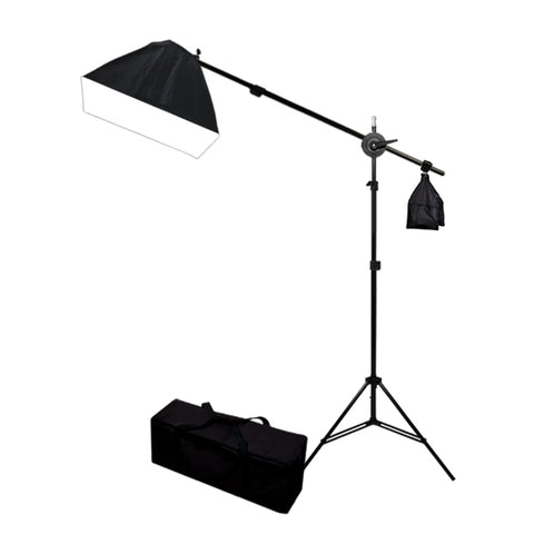 Softbox Lighting Kit Boom Stand & Sandbag Combo