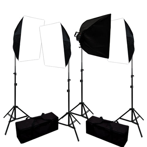 4000W Digital Photography Photo Video Continuous Lighting Light Kit w/ Carrying Case