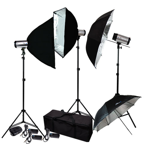 750W Photography Studio Flash Strobe Light Lighting Kit