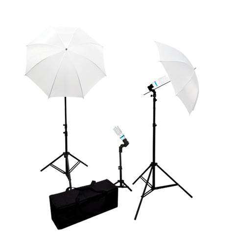 800W Video Photography Lighting kit Umbrella Softbox & Background Light