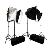 4000 Watt Photo Studio Lighting Softbox Video Light Kit & Carry Case