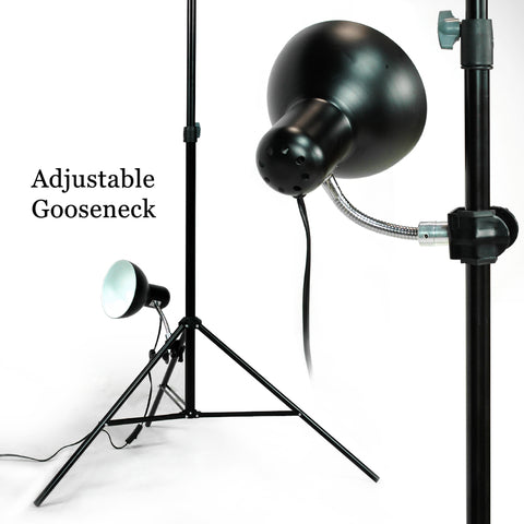 JULIUS STUDIO Adjustable Gooseneck Photo light head with C-clamp