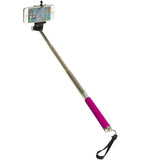 Pink Monopod Handheld Selfie Extendable Telescopic Holder For Camera iPhone Smart Phone