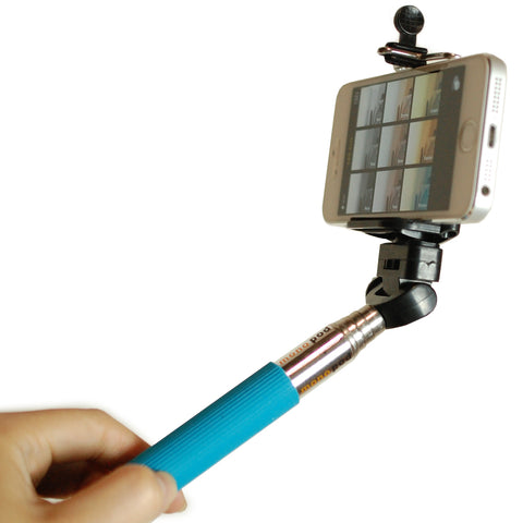 Blue Monopod Handheld Selfie Extendable Telescopic Holder For Camera iPhone Smart Phone