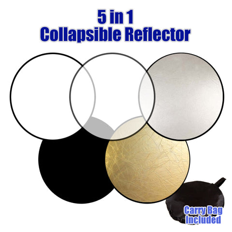 Julius Studio Photo 5-in-1 Collapsible Disc Reflector